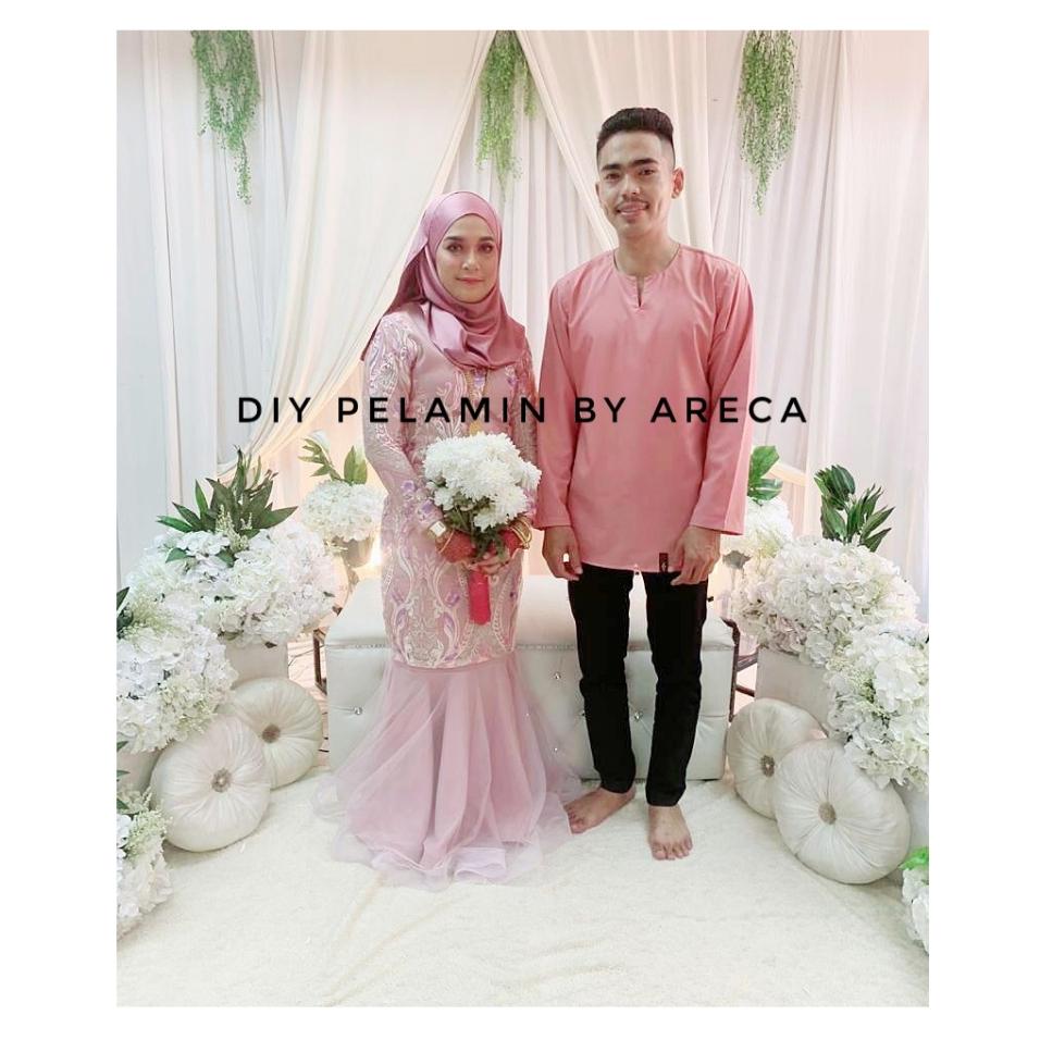 Baju Pengantin Warna Pink Pastel